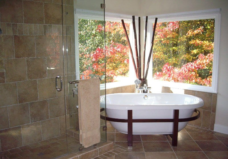 bathroom remodel with soaking tub