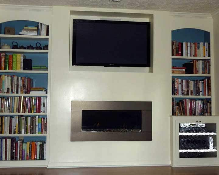 built-in with gas fireplace