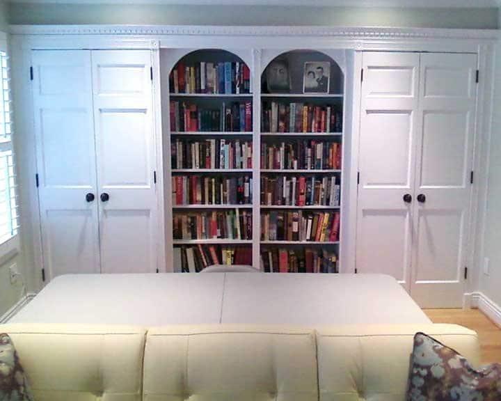 custom built-ins on blank wall space
