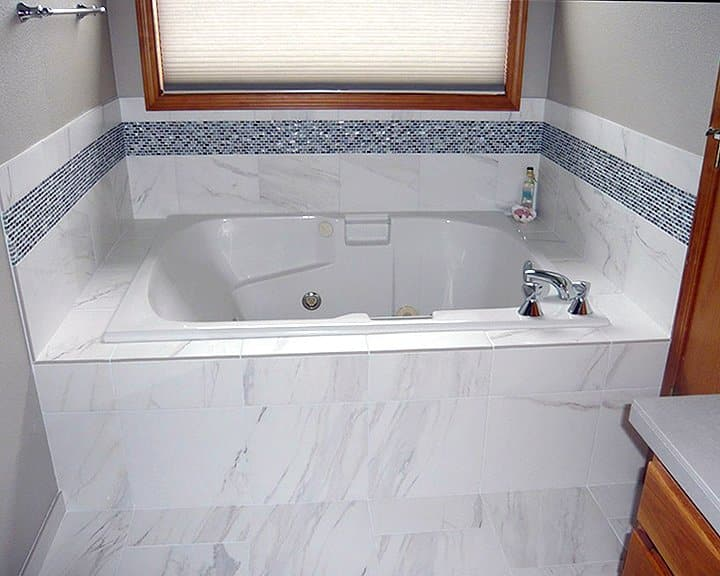 ceramic tile and granite bathroom remodel