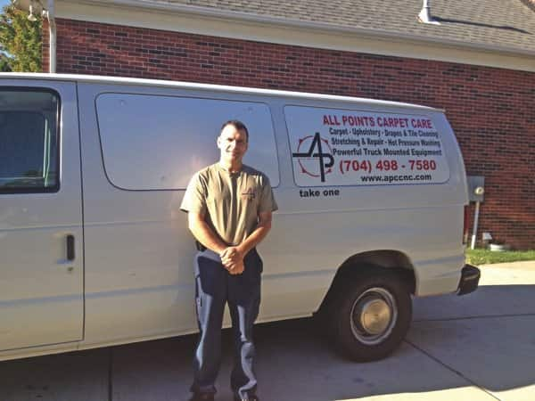 Owner Tony Solis credits attention to detail for his positive reviews. (Photo courtesy of All Points Carpet Care)