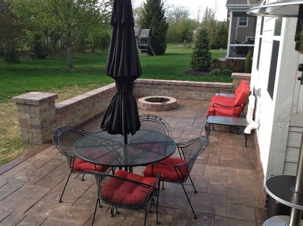 The stamped concrete patio and the fire pit where they roast marshmallows are some of the family's favorite parts of the remodel. (Photo courtesy of Angie's List member Jennifer Starr of Dublin, Ohio)