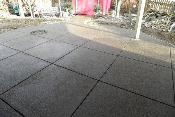 Outdoor Concrete Patio