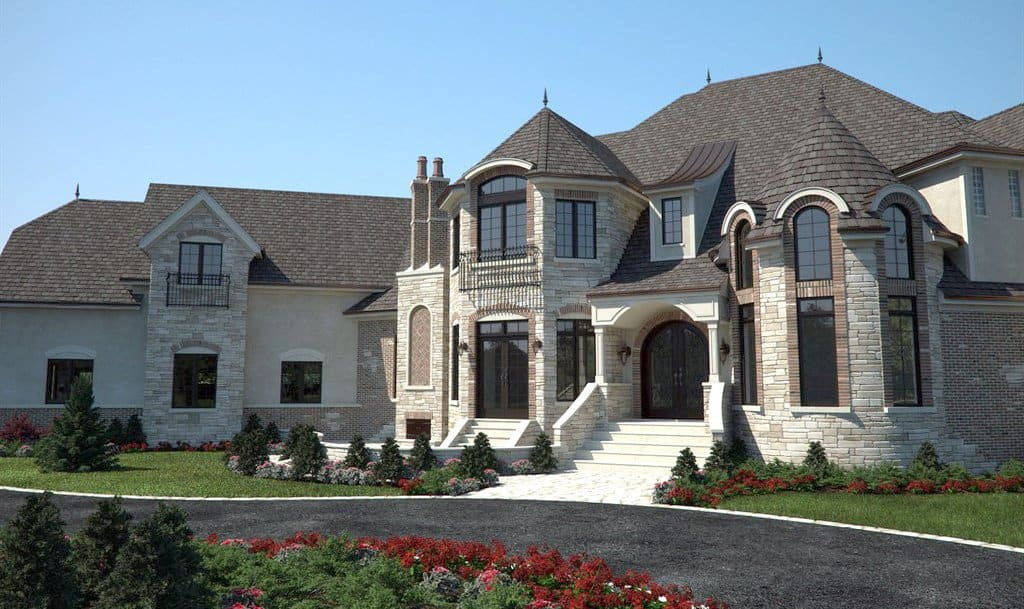 house exterior with resurfaced driveway
