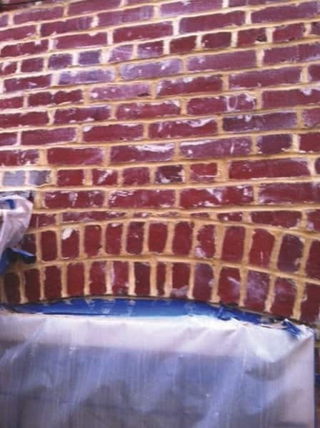 Edgar's Masonry Construction repaired tuckpointing on Norman West's row house. (Photo courtesy of Norman West)