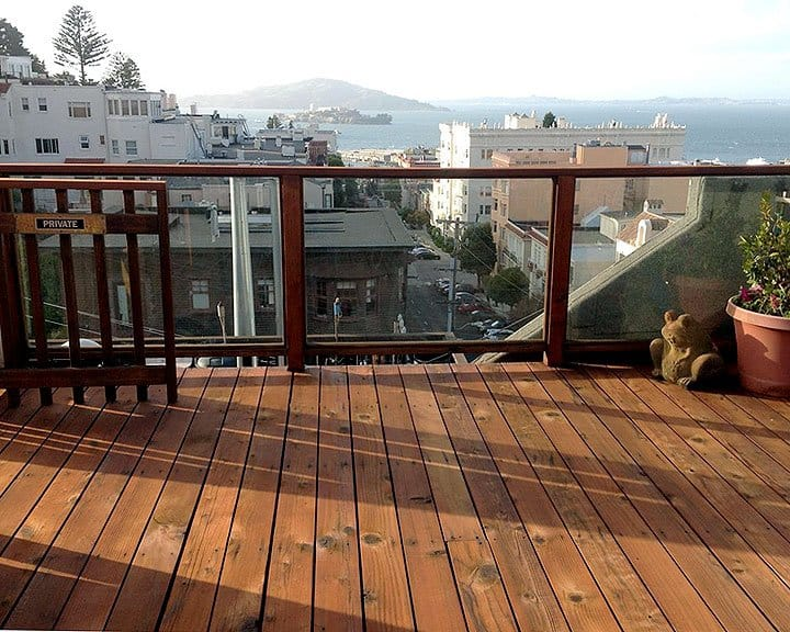 rooftop deck in San Francisco