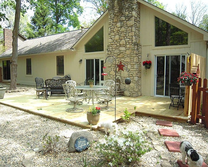 ground-level patio with privacy fence