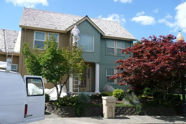For safety reasons alone, many exterior painting jobs involving multi-story homes should be left to a professional, says Cartmel. (Photo courtesy of Angie's List member Kristina T. of Portland, Oregon)