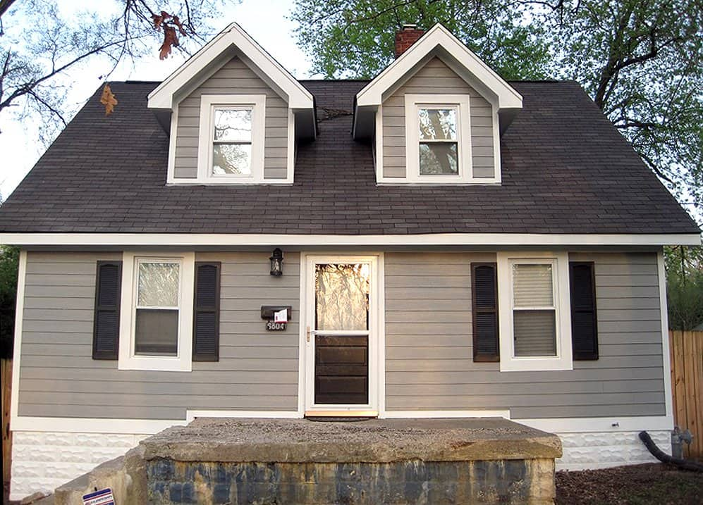 updated home exterior