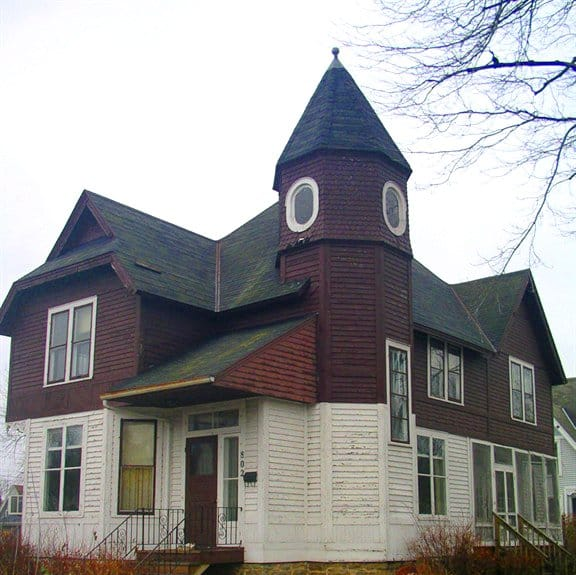 outdated Victorian home exterior