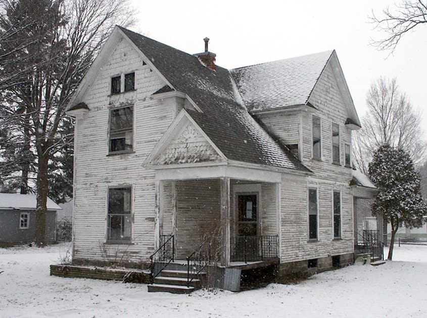 outdated house exterior