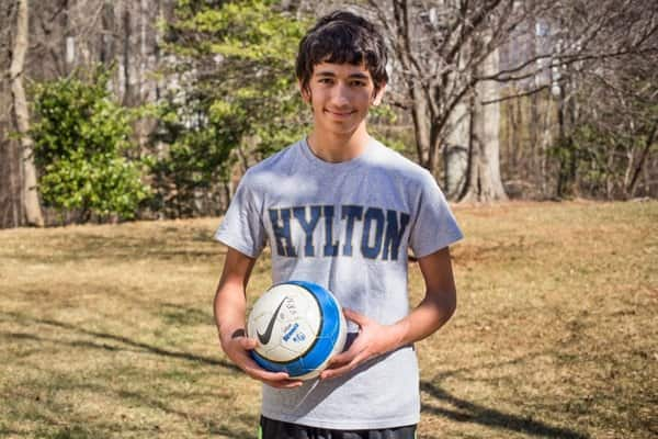 If a concussion occurs while participating in a sport, as it did to Woodbridge, Va., high schooler Simon Maybee, it's important to see a doctor with experience in diagnosing and treating concussions. (Photo by Meredith Rizzo)