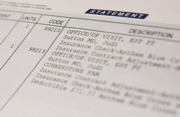 Medical billing experts say the billing code, number of units delivered and date of service are all vital clues to whether you've been billed correctly for medical services. (Photo by Brandon Smith)