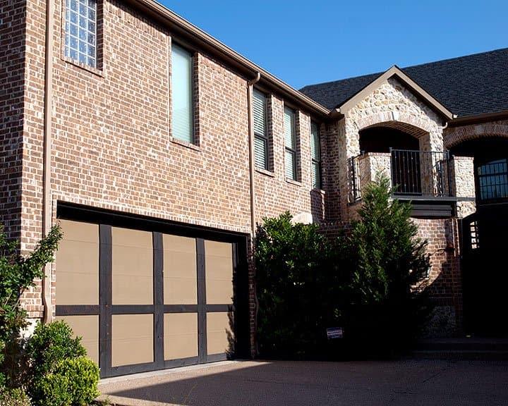 garage door with architectural details