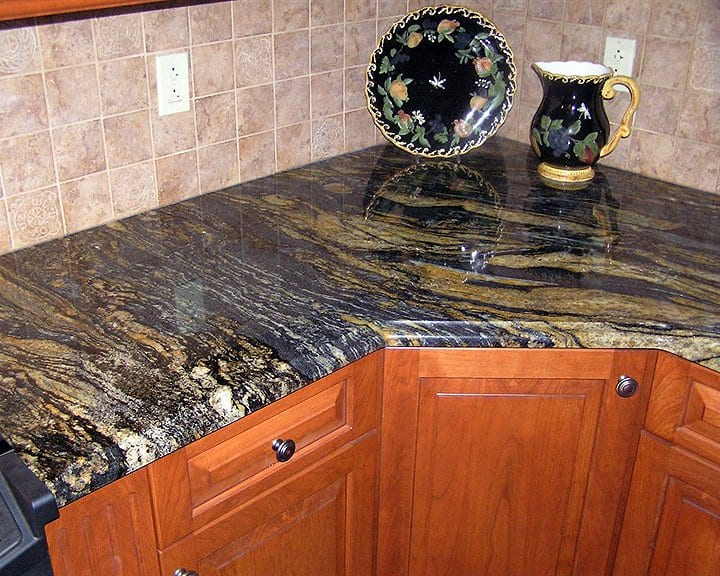 Granite Countertops For Less : granite countertop in kitchen remodel