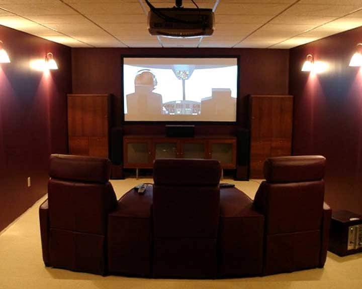 home theater with universal remote