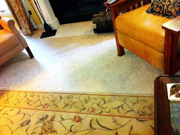 """I tried to clean my own light beige carpet with a home steam cleaner and it was a fiasco,"" says Marcia H. That's when she hired a pro through Angie's List. (Photo courtesy of Angie's List member Marcia H., of Indianapolis)"