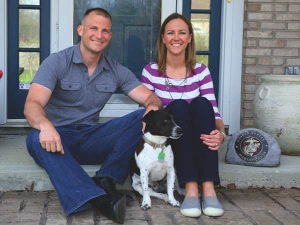 Fishers member Paul Shipley, a Marine Corps captain, and his wife, Kim, say they use Angie's List to find reliable service providers when they move to a new town.  (Photo by Steve C. Mitchell)