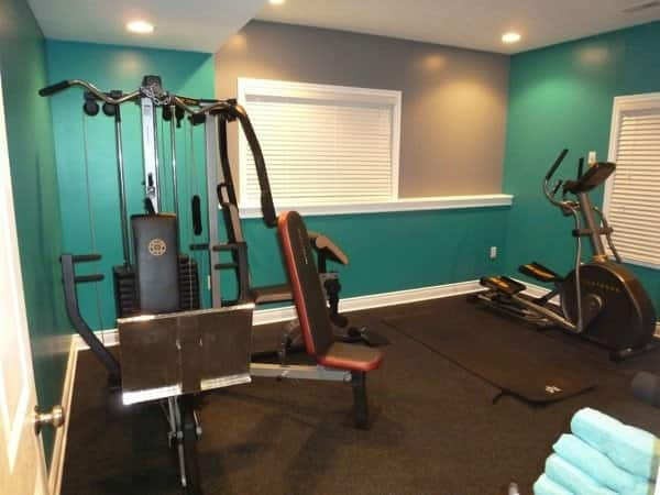 Use lighting to make your home gym a more inviting space. (Photo courtesy of Justin Dill)