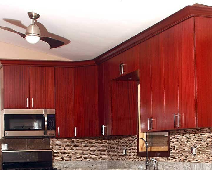 kitchen cabinets with sapele wood