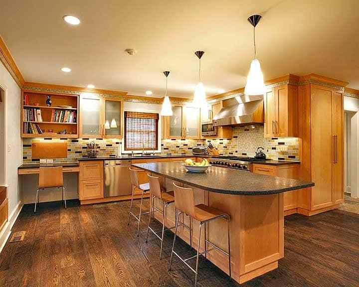 kitchen remodel with subway tile backsplash