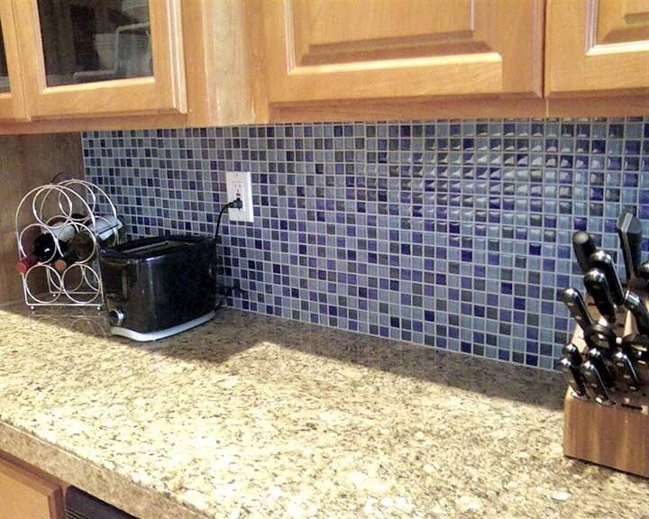 mosaic tile in kitchen backsplash