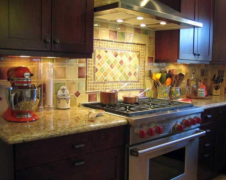 Colorful Kitchen Tile Backsplash