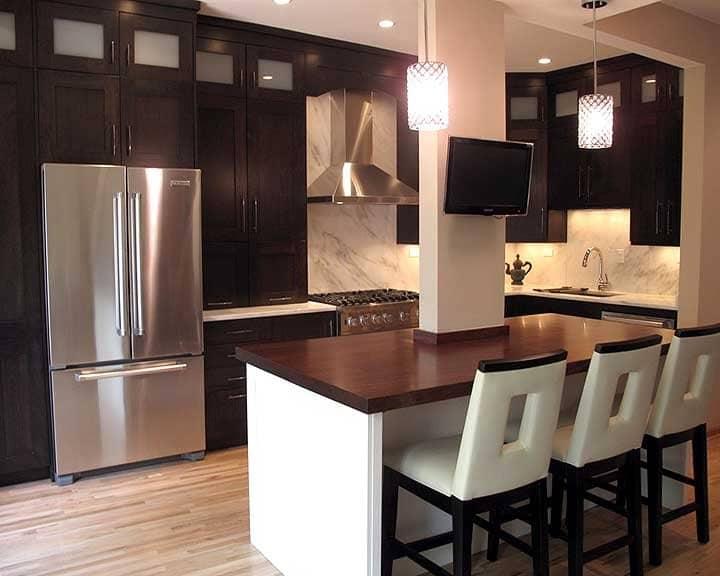 modern kitchen remodel with island