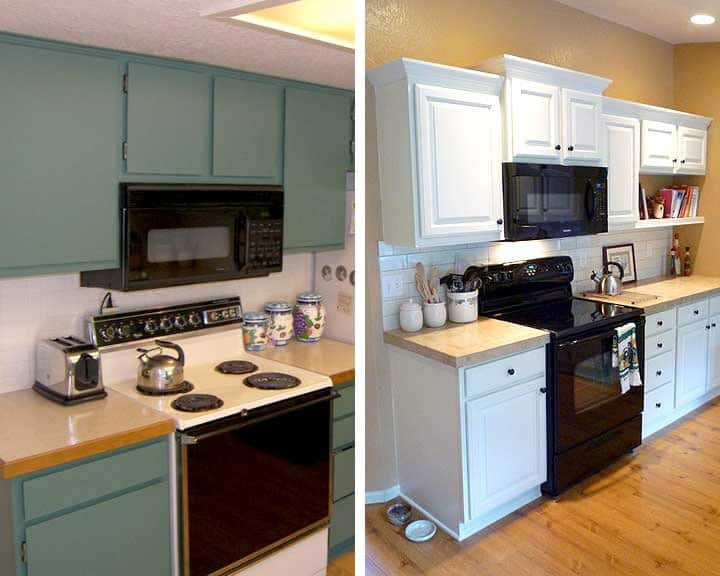 Photos before and after kitchen remodels angie 39 s list for Kitchen renovation before and after