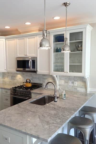 An important step in the kitchen remodeling process is scheduling an appointment with a cabinet designer to pick out the cabinets and begin the design layout, says Wyant. (Photo courtesy of Angie's List member Stefanie M. of Chicago)
