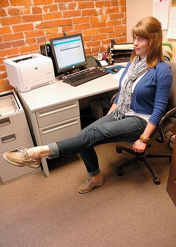 leg extension - exercises you can do at your desk at work