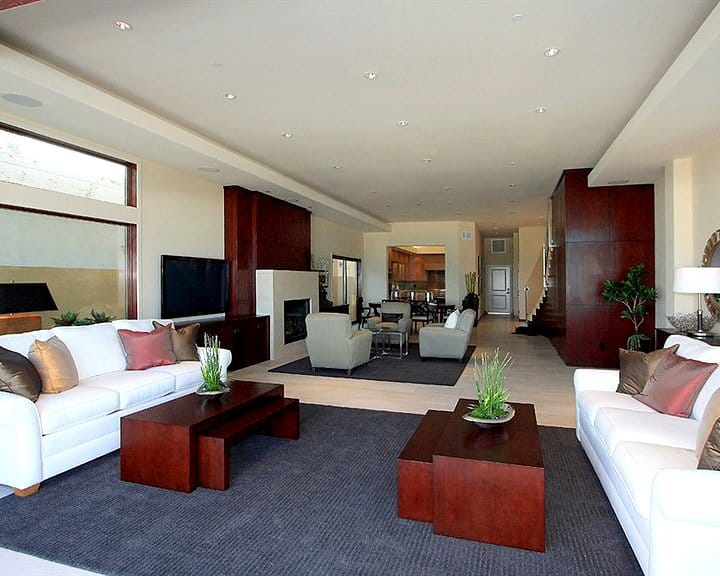 living room with separate seating areas