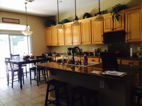 The Quades say their kitchen island and cabinets were too small. (Photo courtesy of Angie's List member Jeffrey Quade of Henderson, Nevada)
