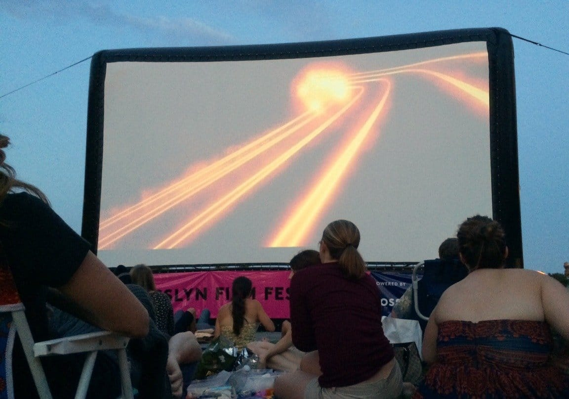 Outdoor movie in D.C. (Photo by Jason Hargraves)