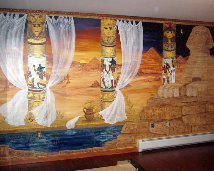 Photos custom wall murals and artwork angie 39 s list for Egyptian wall mural