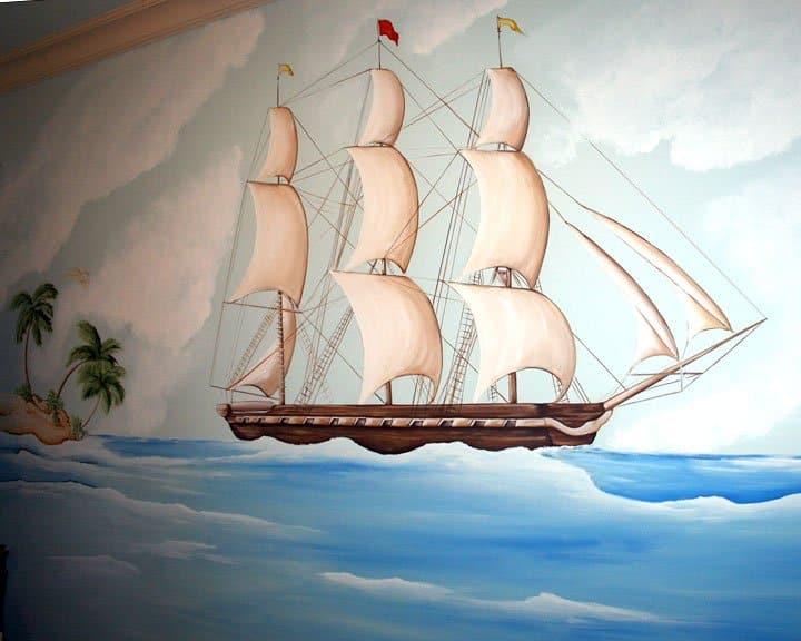 Mural artwork in children's rooms