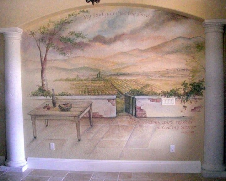 Inspirational mural painted by muralist