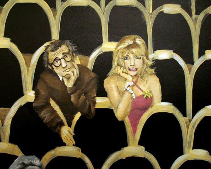 Hollywood-themed mural