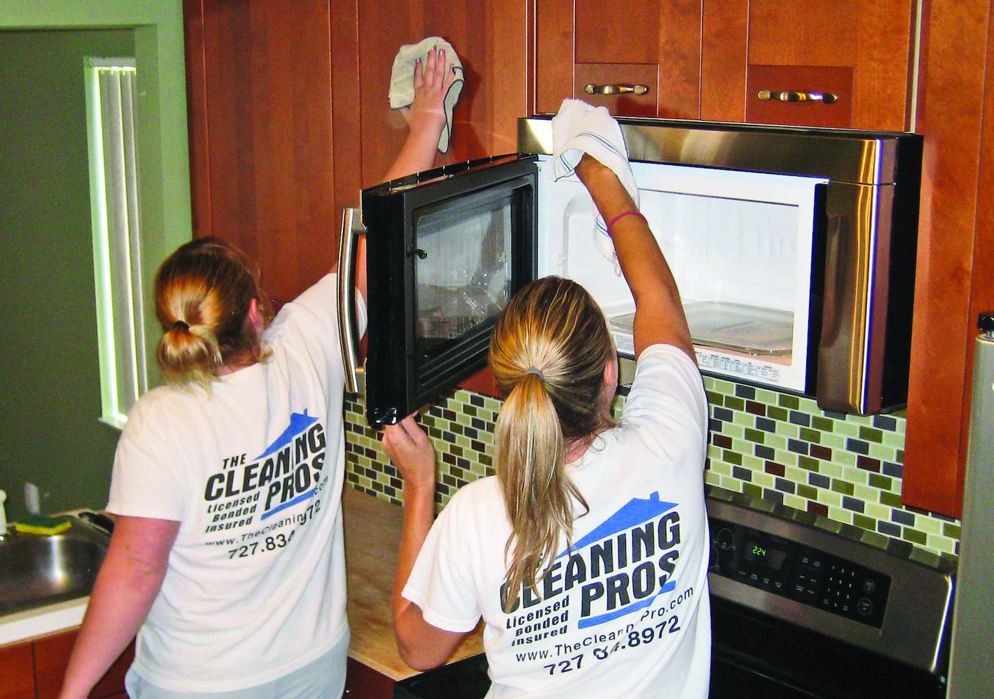 Employees of The Cleaning Pros leave a sheen and shine on a client's home in New Port Richey, Fla. | Photo courtesy of Chuck Terpstra