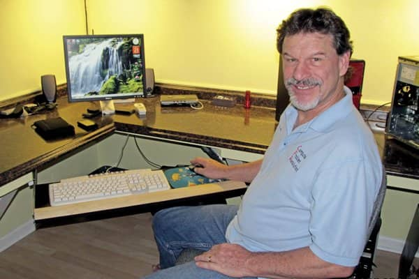 CPR owner Tom Hernden says he sees a steady stream of desktop and laptop computer work even as more people turn to tablets. (Photo courtesy of Tom Hernden)