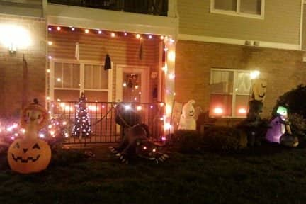 Purple and orange LED lights can give your home a spooky glow for Halloween. (Photo by Katie Jacewicz)