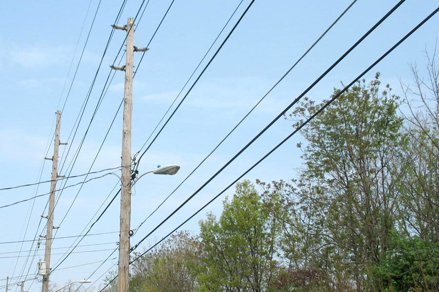 Power lines bring electricity to your home and neighborhood. (Photo by Katie Jacewicz)