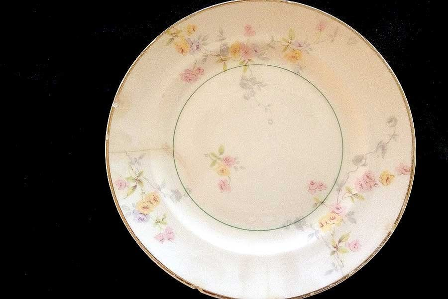 China plate with floral design