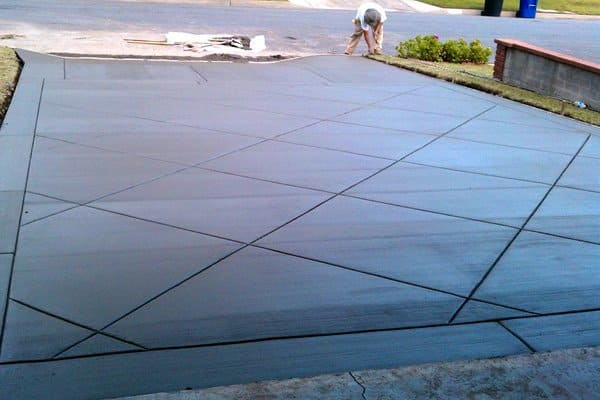Stamped concrete can enhance a home's curb appeal. (Photo courtesy of Lee Callander)