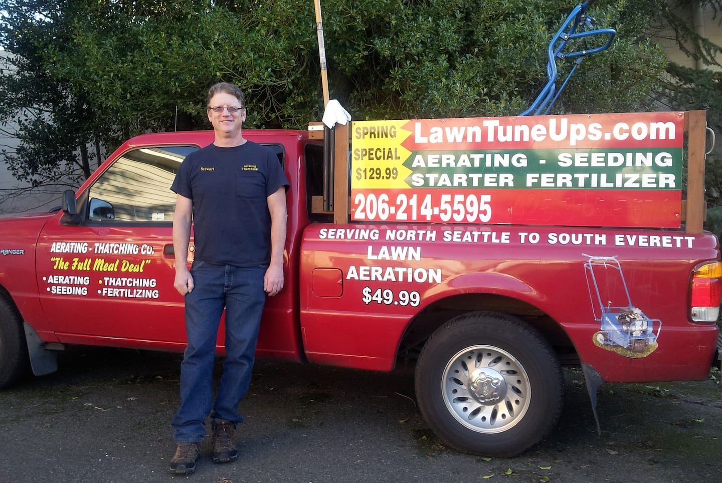 Stewart Armour is the owner and operator of Aerating Thatching Co. in Seattle.