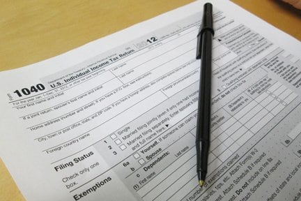 You still have the option to use paper forms to file your taxes, but many people now e-file due to the faster processing time. (Photo by Katie Jacewicz)