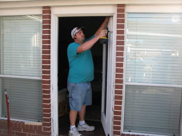 Oates, owner of The Door Guys, says door installations can be tricky as measurements must be exact. (Photo courtesy of Ryon Oates)