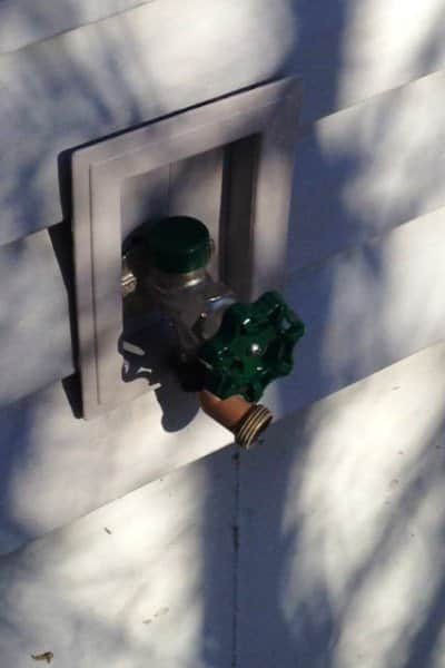 This member hired a top-rated plumber to replace a pipe fitting for an outside faucet. (Photo courtesy of Angie's List member R. R. of Overland Park, Kan.)