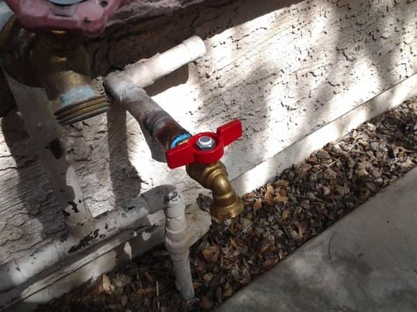 A hose bib was installed at this home. (Photo courtesy of Angie's List member Renee D. of Glendale, Ariz.)