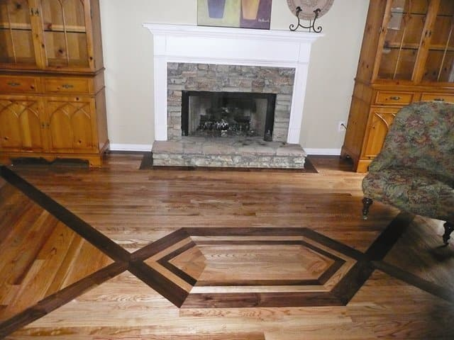 """Warner, who holds degrees in architecture and art, designed the floor pattern himself. """"This is my house, and I want it to be a work of art,"""" he says."""